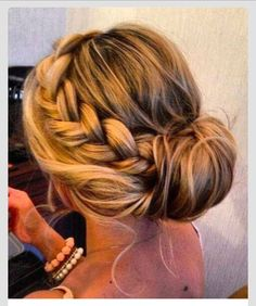 Homecoming hair style