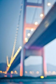 Bokeh is the visual quality of the out-of-focus areas of a photo. Here are some great examples of Bokeh photography. Bokeh Photography, Tumblr Photography, Travel Photography, Amazing Photography, Labo Photo, The Journey, Jolie Photo, City Lights, Golden Gate
