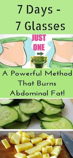 7 Days – 7 Glasses: A Powerful Method That Burns The Abdominal Fat!