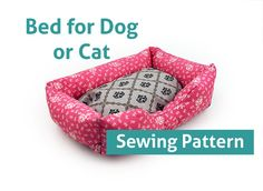 Sewing Pattern - Dog Cat Bed Pattern Pet - 3 Sizes Pillow Sew Sofa DIY ebook PDF Patterns on Etsy, $7.50