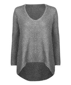 Look what I found on #zulily! Dex Gray Basket-Knit Hi-Low Sweater by Dex #zulilyfinds