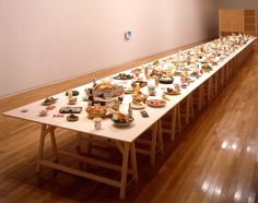 Rirkrit Tiravanija | Artists creates meals from his culture and lets people eat with him.