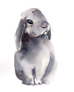 #Bunny #Watercolor Painting Original Watercolor Painting Pet #Watercolour Art One of a Kind Art Watercolour Art Piece Scale: 9x11.75'' (23x30.5 cm) Medium: top branded water... #cat #art #trending #lover #pets #watercolour #aquarelle #painting #watercolor #bunny #rabbit