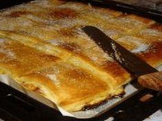 Piskóta jellegű finom túrós sütemény, elolvad a szádban, ha bele harapsz! Hungarian Desserts, Hungarian Recipes, Sweet Recipes, Cake Recipes, Pasta Filo, Sweet Cookies, Baking And Pastry, Food Humor, How Sweet Eats