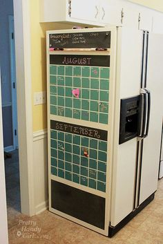 Tutorial - turning the side of your refrigerator into a chalk board calendar