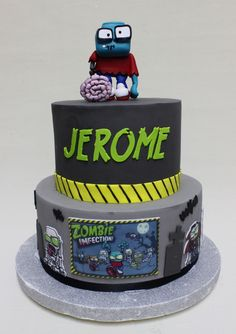 Zombies Infection Cake  Violeta Glace