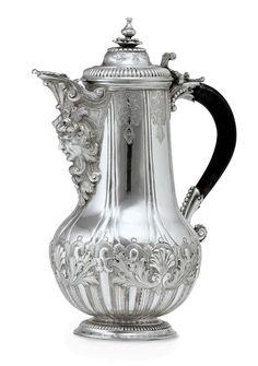 A MALTESE SILVER COFFEE POT 1690