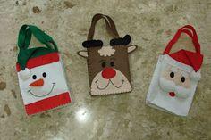 PEQUENAS MARAVILHAS : Sacolinhas de Natal