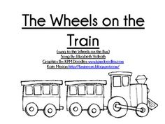 t is for train - Wheels on the Train song freebie