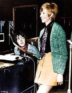 Paul with Cilla Black