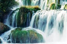 fantastic waterfalls in Croatia - national park KRKA Krka Waterfalls, Famous Waterfalls, Krka National Park Croatia, Places To Travel, Places To See, Montenegro Travel, Les Cascades, Historical Monuments, Parc National