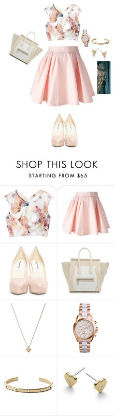 """Lovely pink"" by aldeem-khaleel on Polyvore featuring Rebecca Taylor, Maison About, Brian Atwood, CÉLINE and Michael Kors"