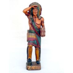 I have always wanted one of these Wood Sculpture, Sculptures, Cigar Store Indian, Tobacco Shop, Cigar Bar, Cowboys And Indians, Moleskine, Cigars, Vintage Antiques