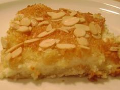 Sweet Coconut Impossible Pie with Almond, from Jaime Oliver