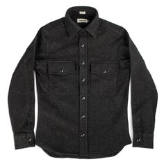 The Maritime Shirt Jacket in Charcoal Donegal Wool: Featured Product Image