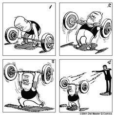 OMQ [老夫子]    Strip #0462 - 魔術舉重 Magic Weight Lifting