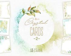 Der Kristall Karten Set II 13 hochwertige Hand bemalt Aquarell Blumen und polygonale vorgefertigten Karten und Vorlagen. Perfekte Grafik für Hochzeitseinladungen, Karten, Fotos, Plakate, Zitate und mehr. ----------------------------------------------------------------- SOFORT-DOWNLOAD
