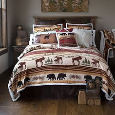 Hinterland 5 Piece Bedding Set by Carstens - Montana Gift Corral Rustic Bedding Sets, Luxury Bedding Sets, Country Bedding, Western Bedding Sets, Girls Bedroom, Master Bedroom, Bedroom Bed, Bedrooms, Lodge Bedroom