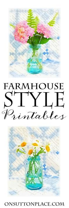Free Farmhouse Style Summer Printables | Just download and print for instant, seasonal wall art. I love that this is so easy and basically free!
