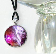 Angel Necklace Reiki Energy Pendant Necklace Chakra Jewelry Fuchsia