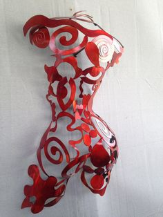 Metal Wall art sculpture abstract torso by Holly Lentz sexy nude metal torso on Etsy, $514.31 AUD