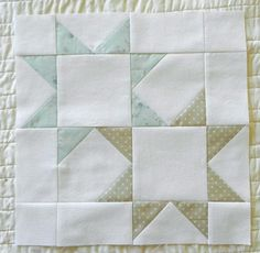 "Double star block... And a link to a ""stained glass"" block tutorial"