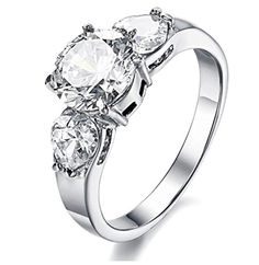 Looking for the perfect Stainless Steel Cz Inlaid Women's Wedding Ring Silver Aooaz Jewelry? Please click and view this most popular Stainless Steel Cz Inlaid Women's Wedding Ring Silver Aooaz Jewelry. Cubic Zirconia Engagement Rings, Cubic Zirconia Rings, Womens Wedding Bands, Wedding Rings For Women, Silver Wedding Rings, Wedding Ring Bands, Stylish Rings, Engagement Bands, Solitaire Engagement