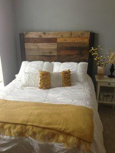 Queen/Full size Reclaimed Wood Headboard by ModernRust on Etsy, $259.00