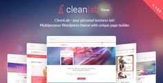 CleanLab - Responsive WordPress Theme   Page builder by ThemeFuzz  CleanLab WordPress theme overviewCleanLab wordpress theme with page builder is the most complete theme created so far. It¡¯s res