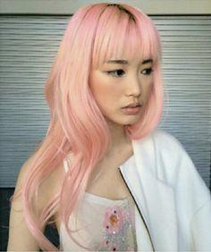 More super-cute hairstyles here: bright hair, pastel coral hair, blush pink, Pastel Coral Hair, Bright Hair, Blush Pink, Neon Hair, Dip Dye Hair, Dye My Hair, Super Cute Hairstyles, Candy Hair, Asian Hair