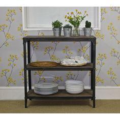 3 Tier Shelf Unit   Pewter   Steel Magnolias Furniture LTD