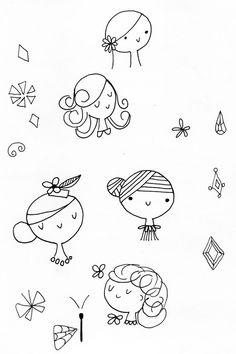 Shannon Hays / Shindig Design Studio: How Shall I Brooch the Subject? - Shannon Hays / Shindig Design Studio: How Shall I Brooch the Subject? Doodle Art For Beginners, Easy Doodle Art, Doodle Art Drawing, Drawing For Kids, Painting & Drawing, Doodle Art Letters, Doodle Art Journals, Drawing Ideas, Simple Doodles