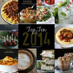 This top ten posts of 2014 is a collection of the best recipes on Nutmeg Nanny in 2014. Full of cheese, chocolate, sweetness and savory goodness. Grab a fork and dig in!