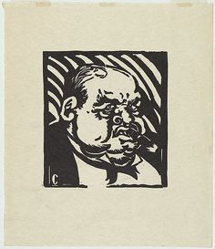 Artist: COUNIHAN, Noel | Title: Tycoon. | Date: 1931 | Technique: linocut, printed in black ink, from one block