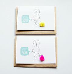 lustige Osterhasen originelle Grusskarte zum Ostern