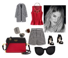 """""""Untitled #25"""" by maidaaskerova ❤ liked on Polyvore featuring WithChic, Emma Cook, Jimmy Choo, MANGO and Prada"""