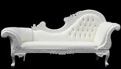 French Provincial Shabby Chic Chaise Lounger BRAND NEW Sofa Couch Chair White
