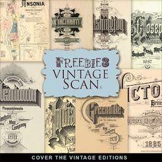 Freebies Kit de ediciones vintage Cubiertas