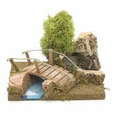 Puentecillo con liquen y roca de corcho Christmas Crib Ideas, Christmas Nativity, Christmas Crafts, Gnome Tree Stump House, Diy Best Friend Gifts, Shadow Box Art, Medieval Houses, Fairy Tree, Christmas Villages