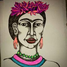 Frida kahlo illustration by lena Öberg