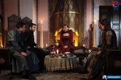 Hürrem Sultan (Vahide Perçin), Şehzade Selim (Engin Öztürk), Mihrimah Sultan (Pelin Karahan), Şehzade Bayezıt (Aras Bulut İynemli), Şehzade Cihangir (Tolga Sarıtaş) - Muhteşem Yüzyıl 120. Bölüm Fotoğrafları