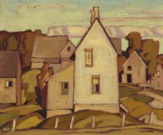 """Old House - Parry Sound,""  A.J. Casson, oil, 9.25 x 11.25"", Robert McLaughlin Gallery."