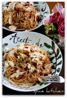 「グリーンオリーブdeトマトクリームパスタ」のレシピ by バリ猫さん | 料理レシピブログサイト タベラッテ