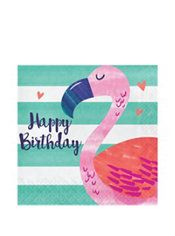 Striped Tropical Birthday Lunch Napkins 16ct  Party City