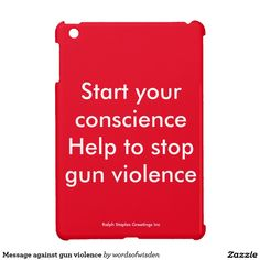Message against gun violence iPad mini case