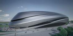 Projekt Galerii Sztuki autorstwa Zahy Hadid (3. nagroda). W konkursie PermMuseumXXI wzięły udział wiodące pracownie architektoniczne świata. Peter Zumthor odrzucił jednak projekty starchitektów.  Fot.  www.archcenter.org
