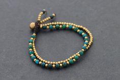 Chrysocolla Round Basic Bracelet by XtraVirgin on Etsy, $8.00