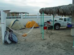 Tidy camping at El Pabellon. Not great surf, but a must-do for every Baja surfer.