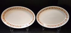 "TWO Syracuse Captain's Table Oval Platters Restaurant Ware 10 1/4"" Set of 2 NICE #SyracuseChina"