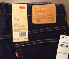 Men's Levi Strauss 569 Loose Straight Fit 33x30 Dark Wash Jeans | eBay